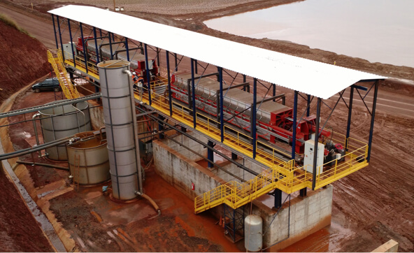 Iron Ore Tailings Dewatering Plant 30km from Belo Horizonte.